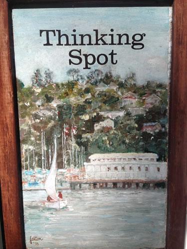 Thinking spot overlooking harbor